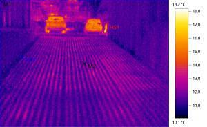 Infrarood beeld hellingbaanverwarming